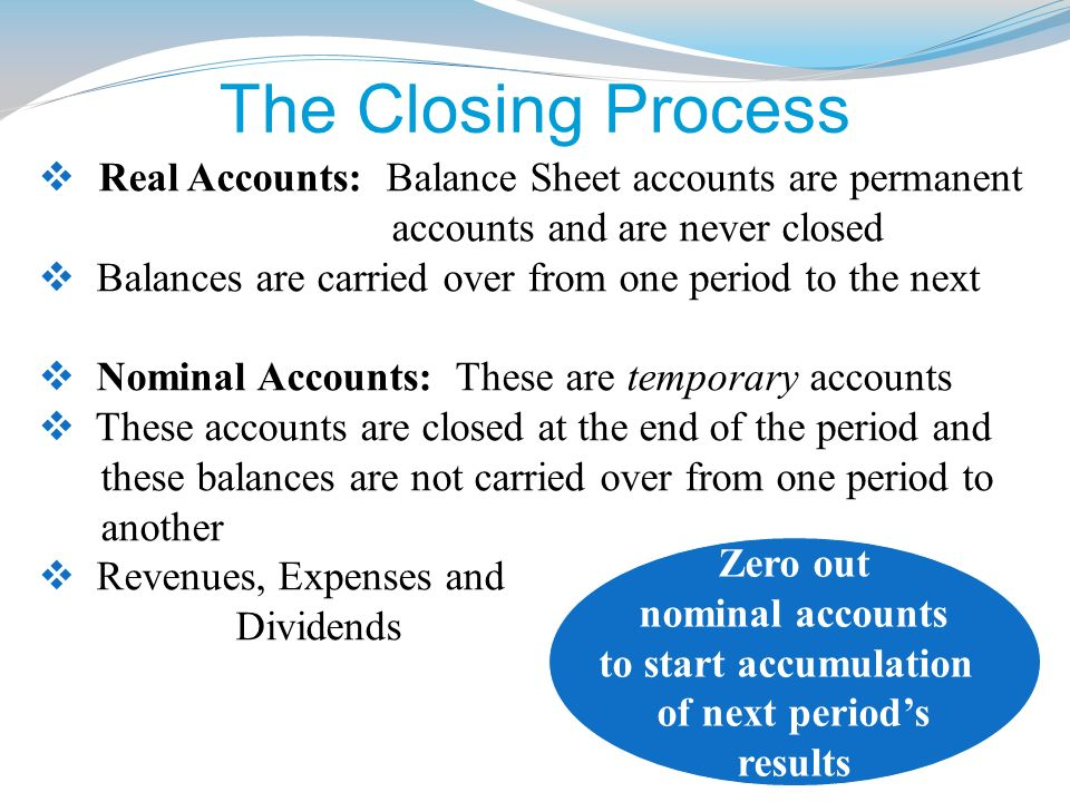 the balance sheet accounts are referred to as real or permanent accounts