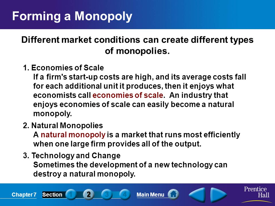 What Can Destroy A Natural Monopoly