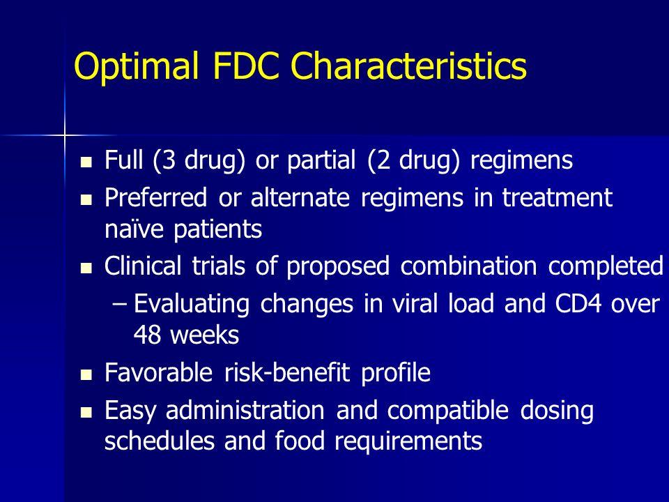 Optimal FDC Characteristics