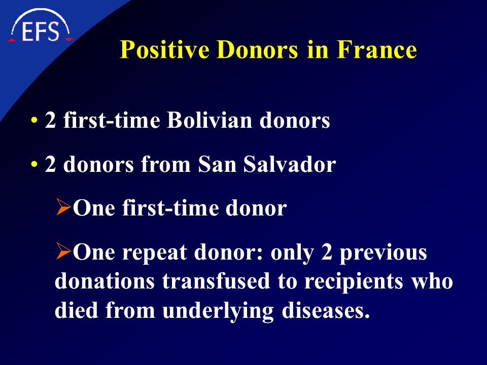 Positive Donors in France