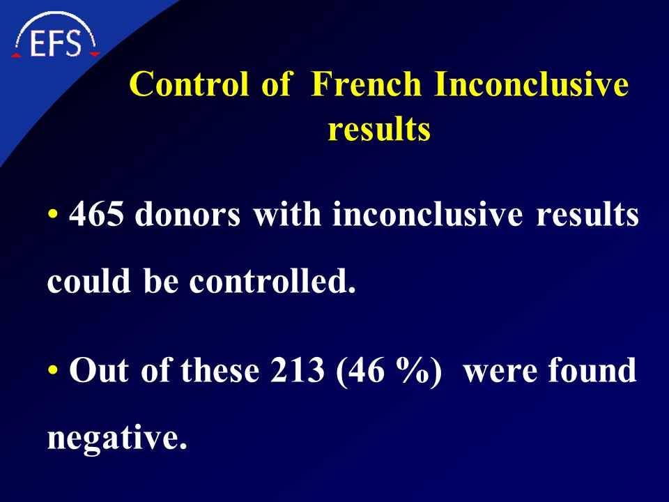 Control of French Inconclusive results