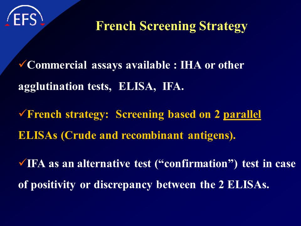 French Screening Strategy