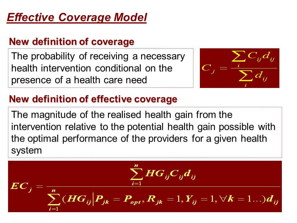 New definition of coverage