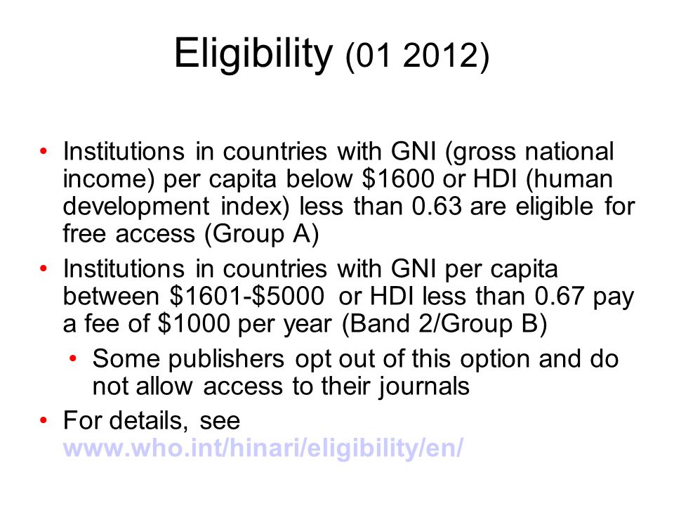 Eligibility (01 2012)