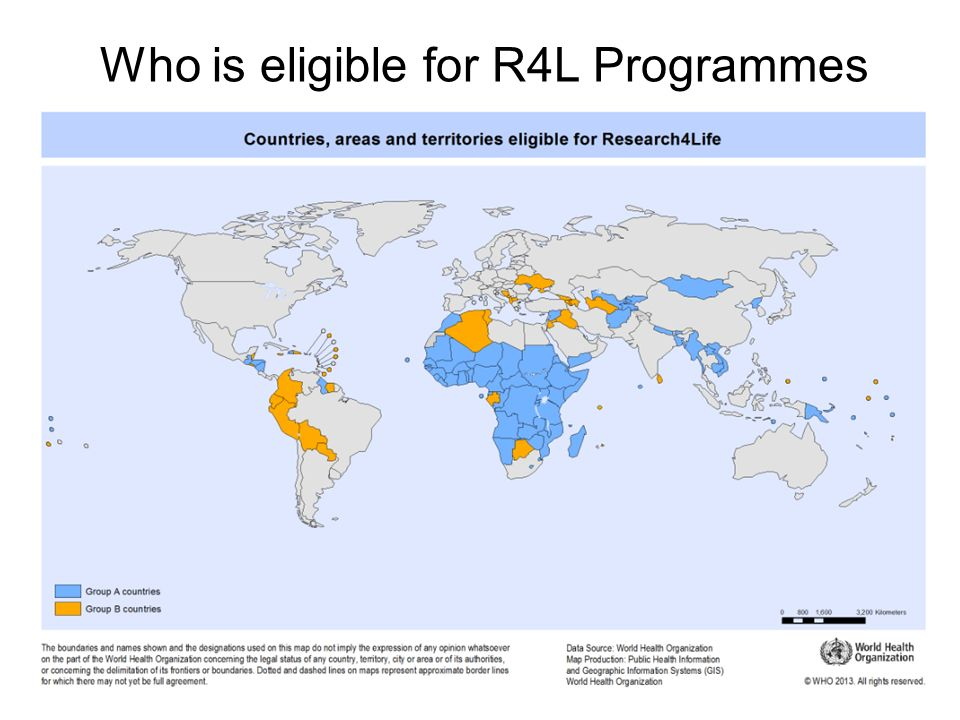 Who is eligible for R4L Programmes