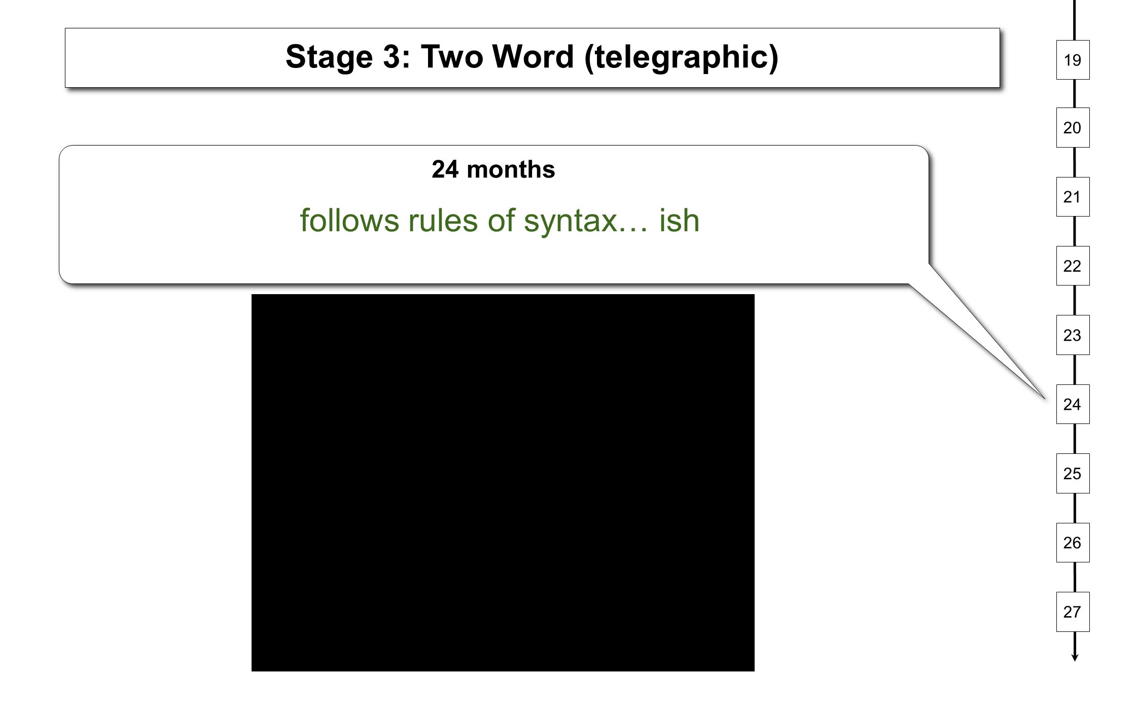 Stage 3: Two Word (telegraphic)