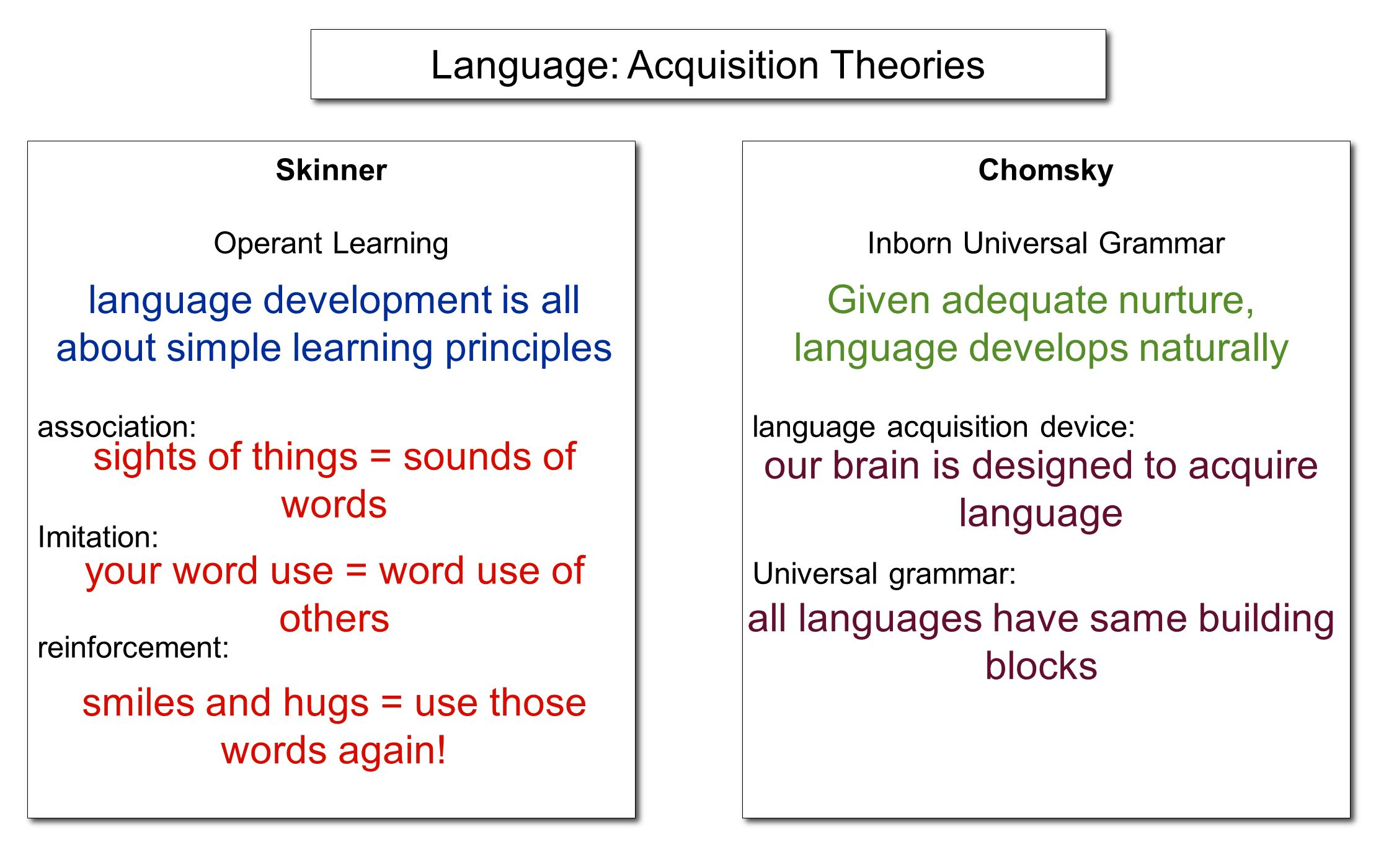 Language: Acquisition Theories