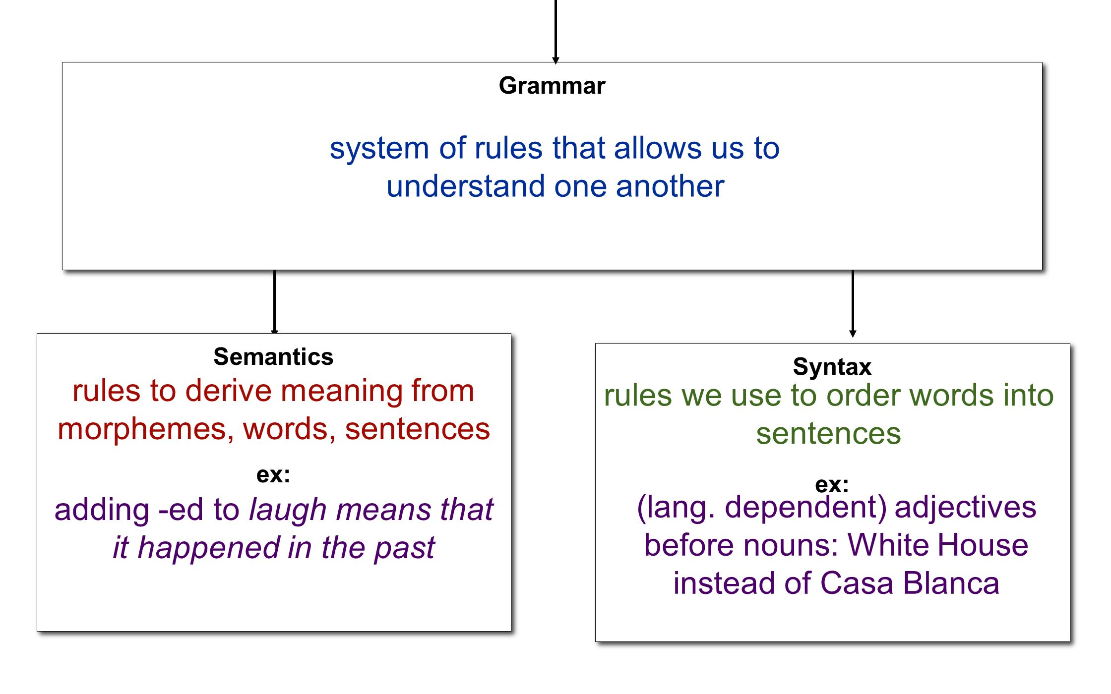 system of rules that allows us to understand one another