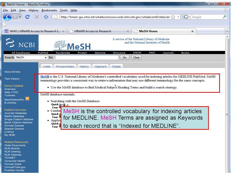 ` MeSH database.