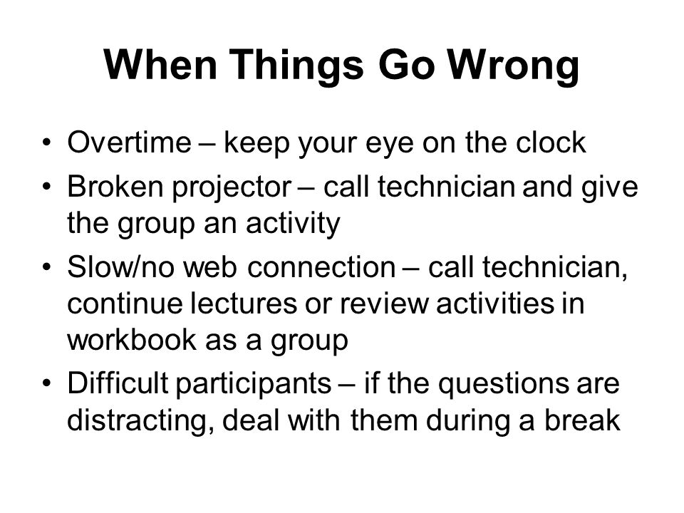 When Things Go Wrong Overtime – keep your eye on the clock