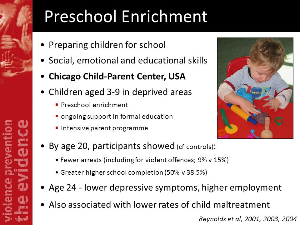 Preschool Enrichment Preparing children for school