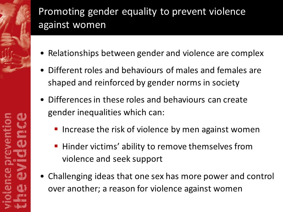 Promoting gender equality to prevent violence against women