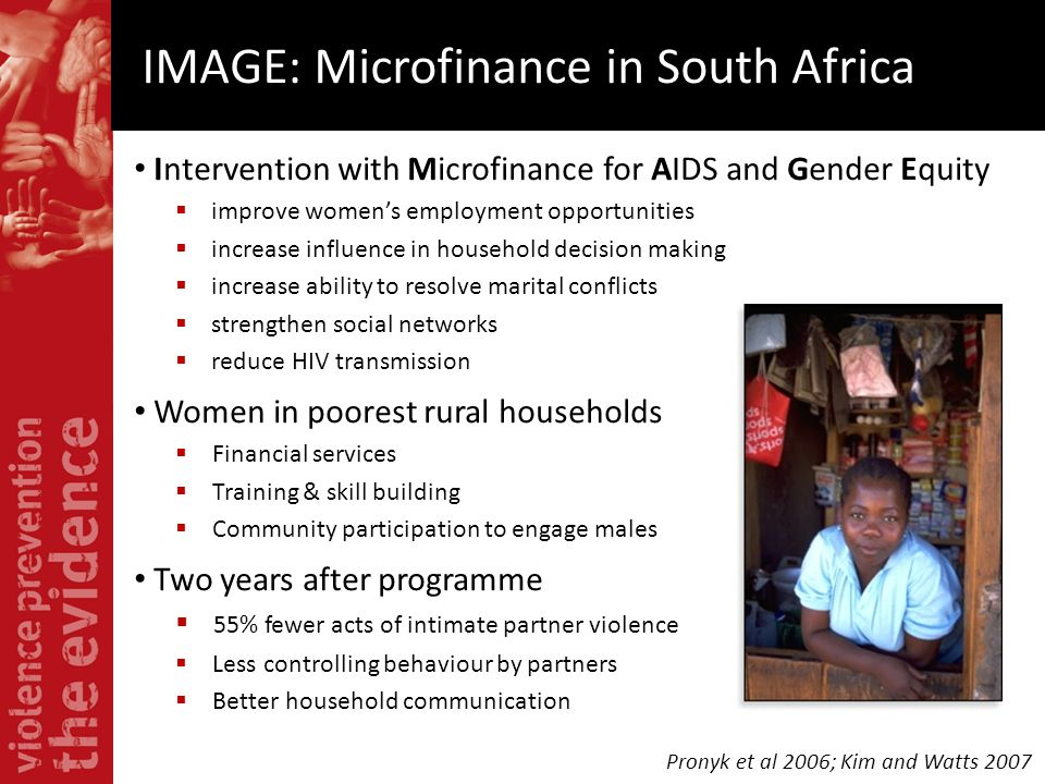 IMAGE: Microfinance in South Africa