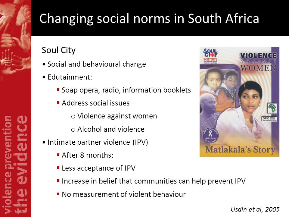 Changing social norms in South Africa