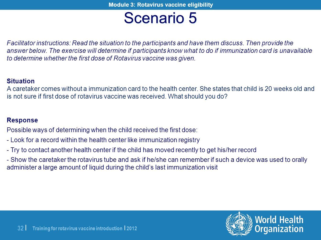 Module 3: Rotavirus vaccine eligibility