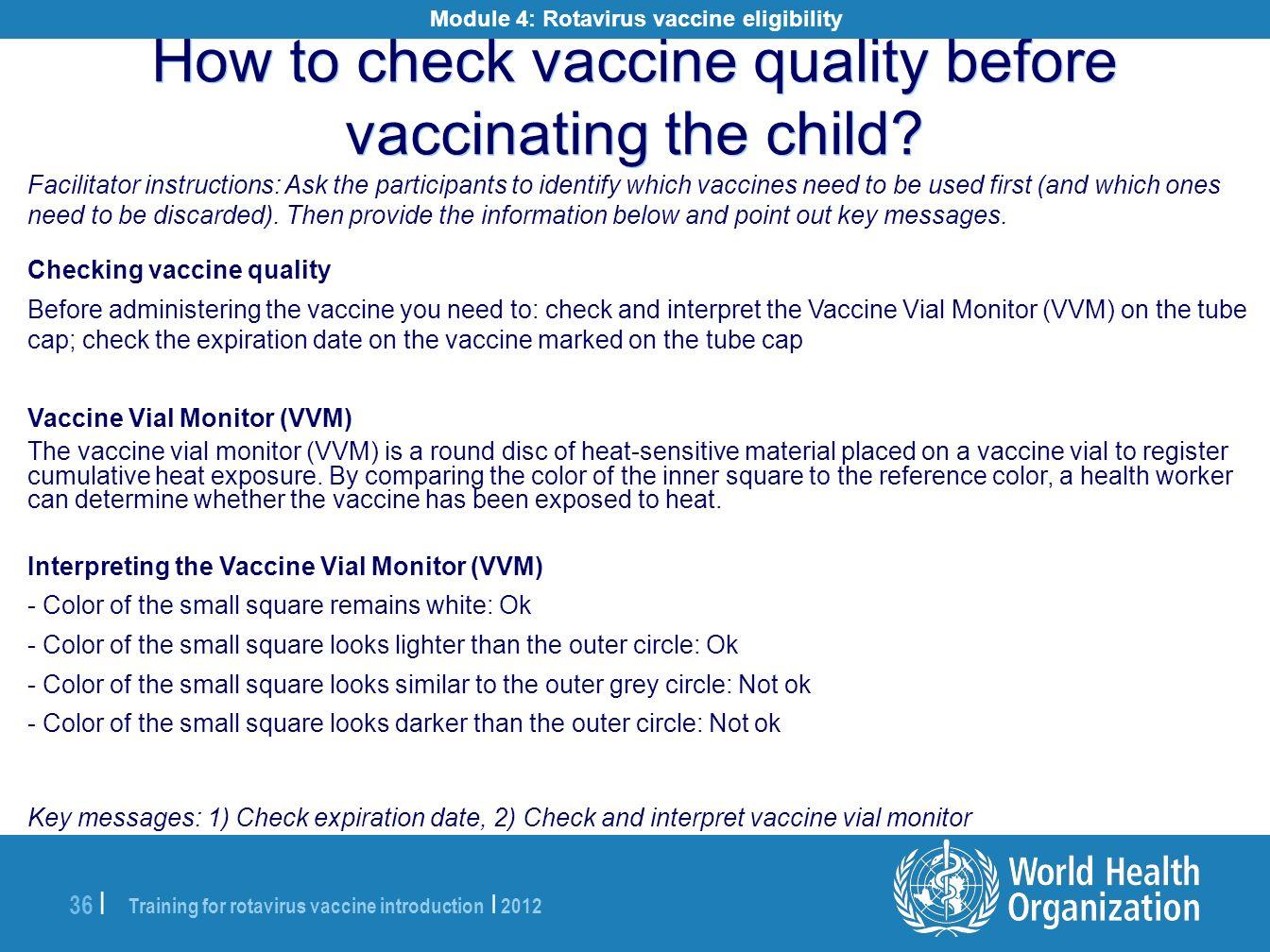 Module 4: Rotavirus vaccine eligibility