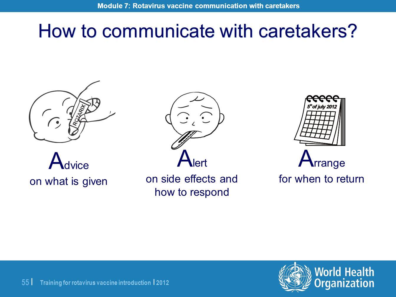 Module 7: Rotavirus vaccine communication with caretakers