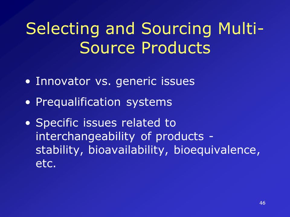 Selecting and Sourcing Multi-Source Products