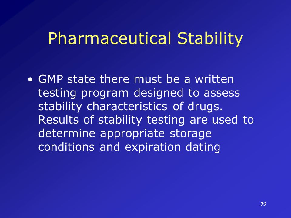 Pharmaceutical Stability