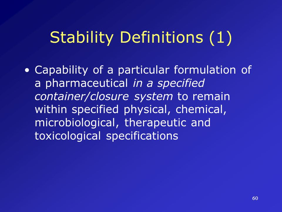 Stability Definitions (1)