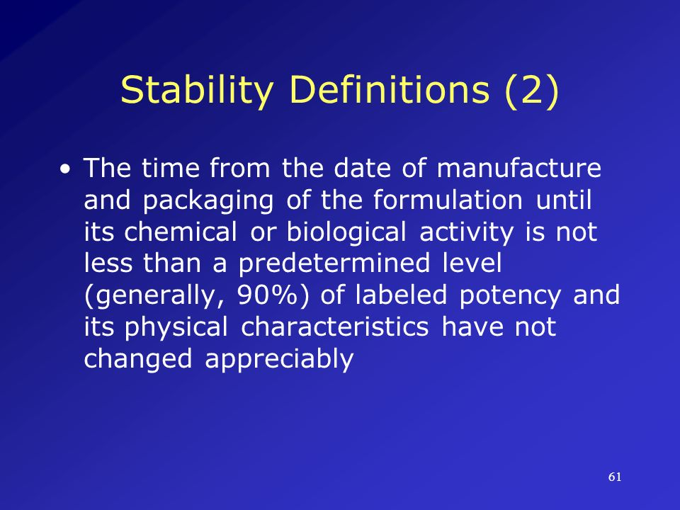 Stability Definitions (2)