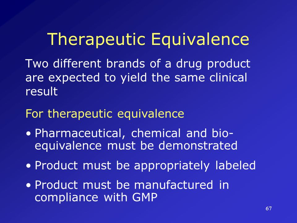 Therapeutic Equivalence