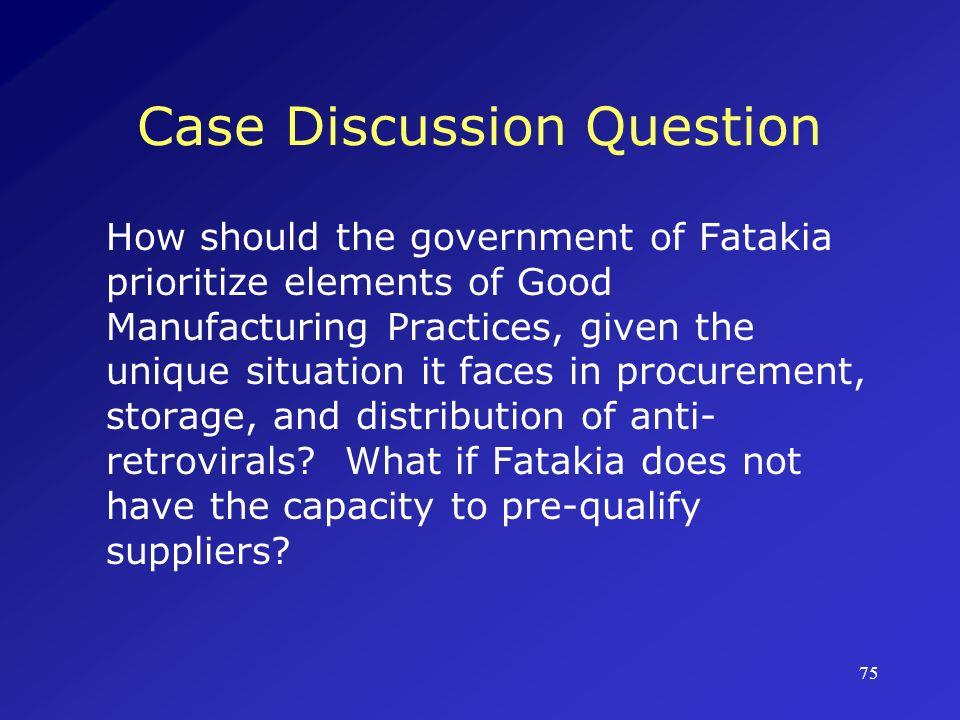 Case Discussion Question