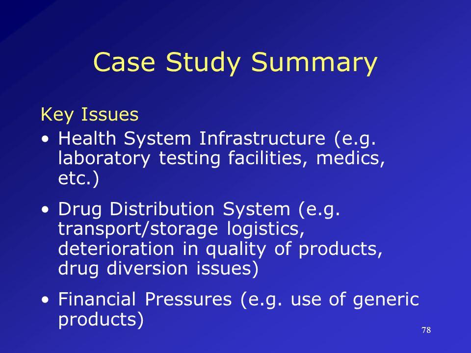 Case Study Summary Key Issues