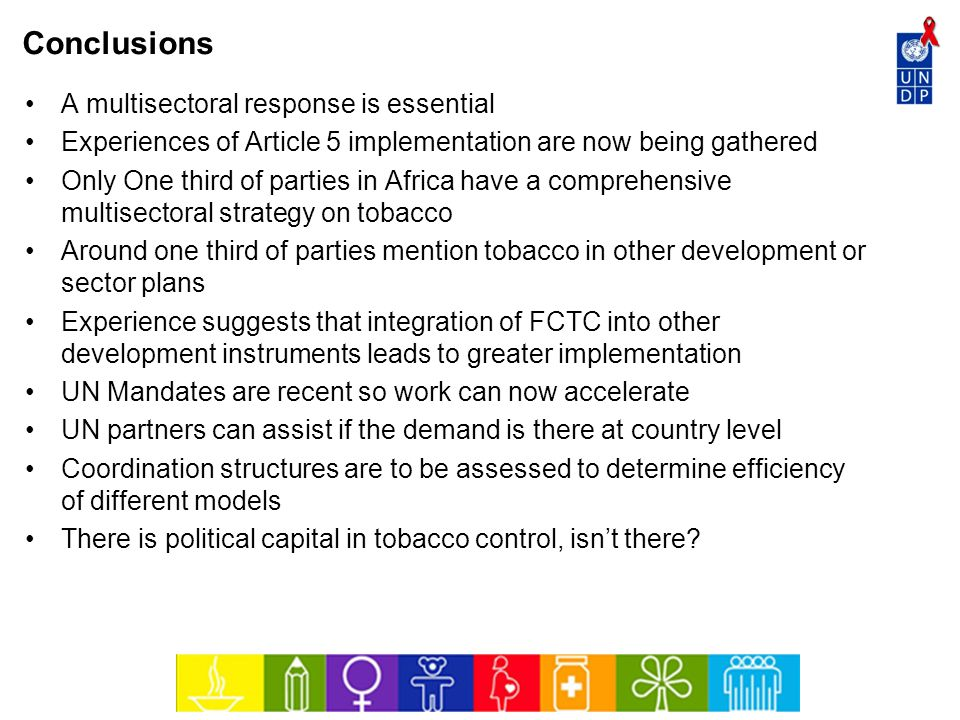 Conclusions A multisectoral response is essential