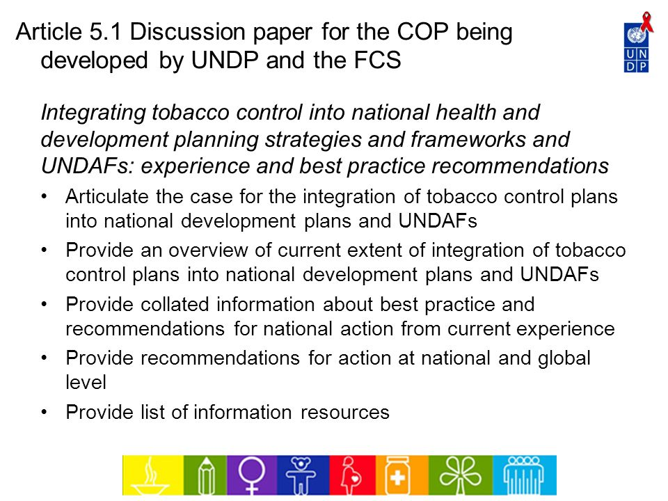 Article 5.1 Discussion paper for the COP being developed by UNDP and the FCS