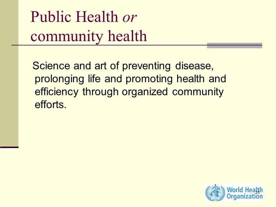 Public Health or community health
