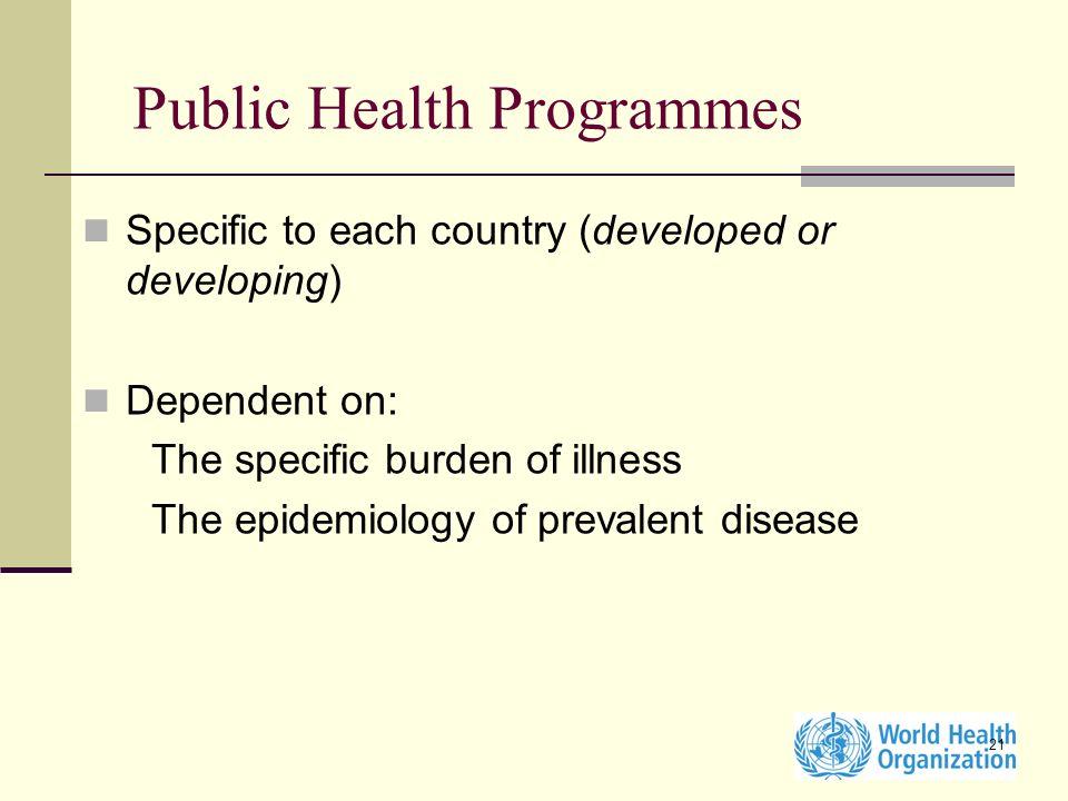 Public Health Programmes