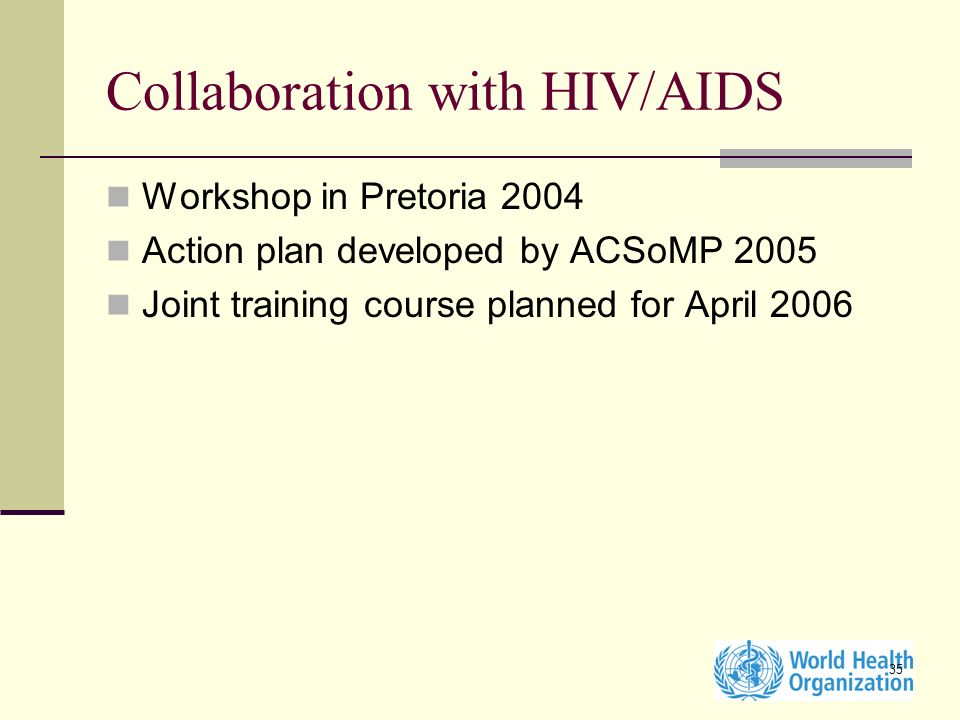 Collaboration with HIV/AIDS