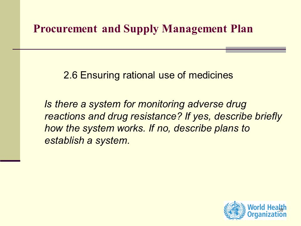 Procurement and Supply Management Plan