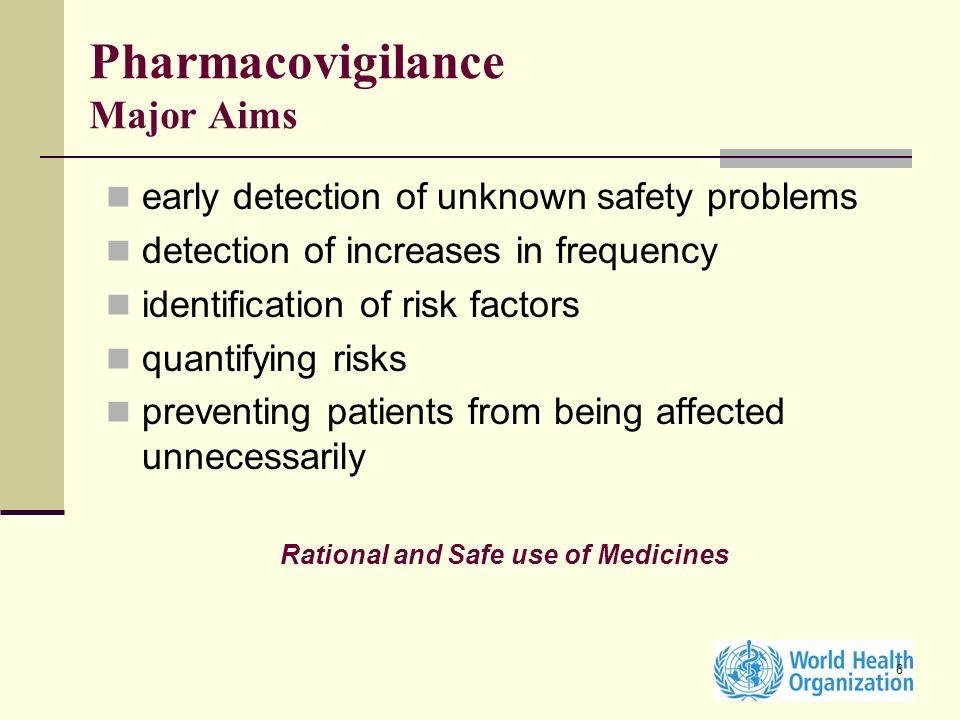 Pharmacovigilance Major Aims