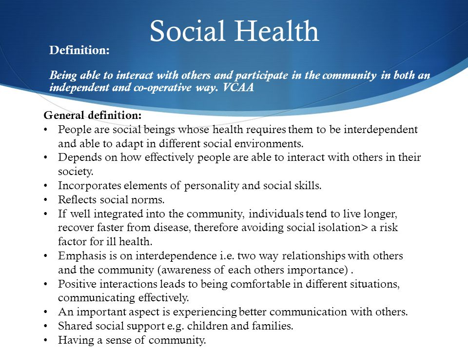healthy social relationship definition
