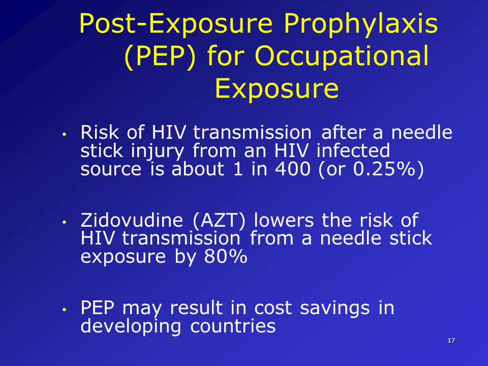 Post-Exposure Prophylaxis (PEP) for Occupational Exposure