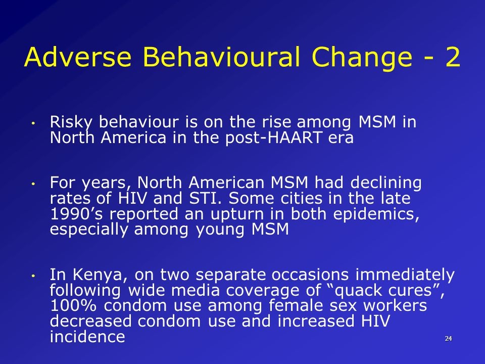 Adverse Behavioural Change - 2