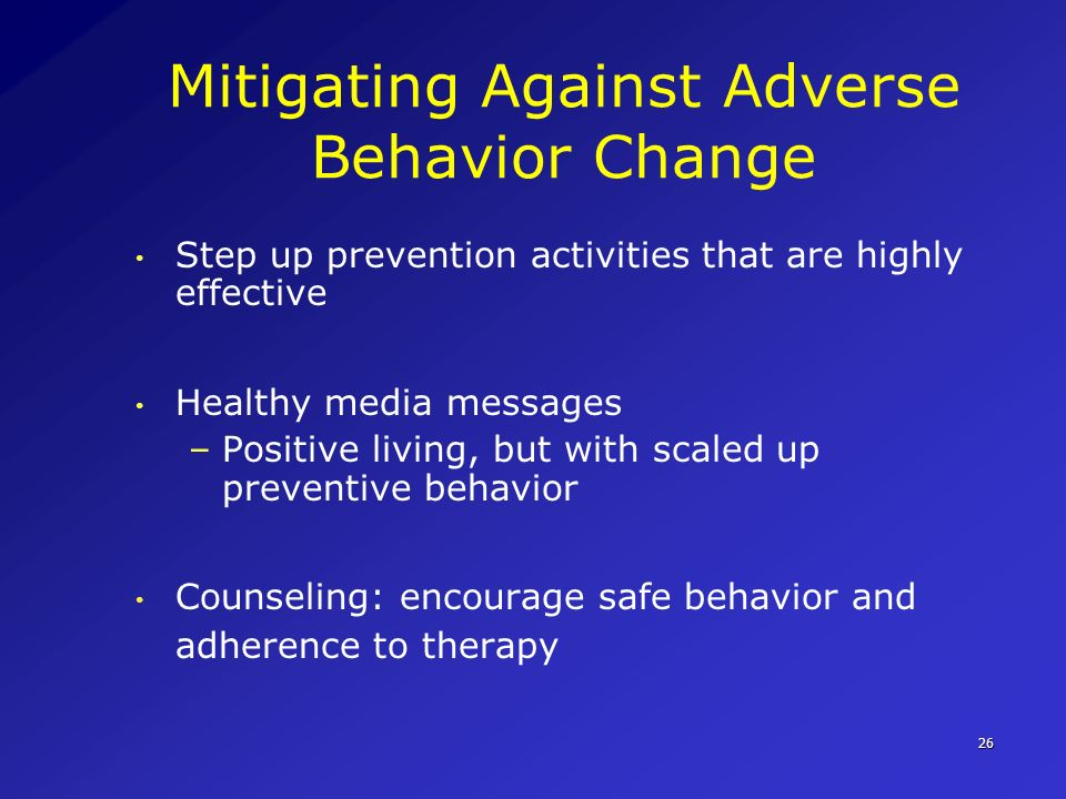 Mitigating Against Adverse Behavior Change