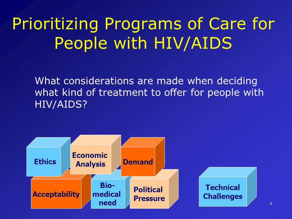 Prioritizing Programs of Care for People with HIV/AIDS