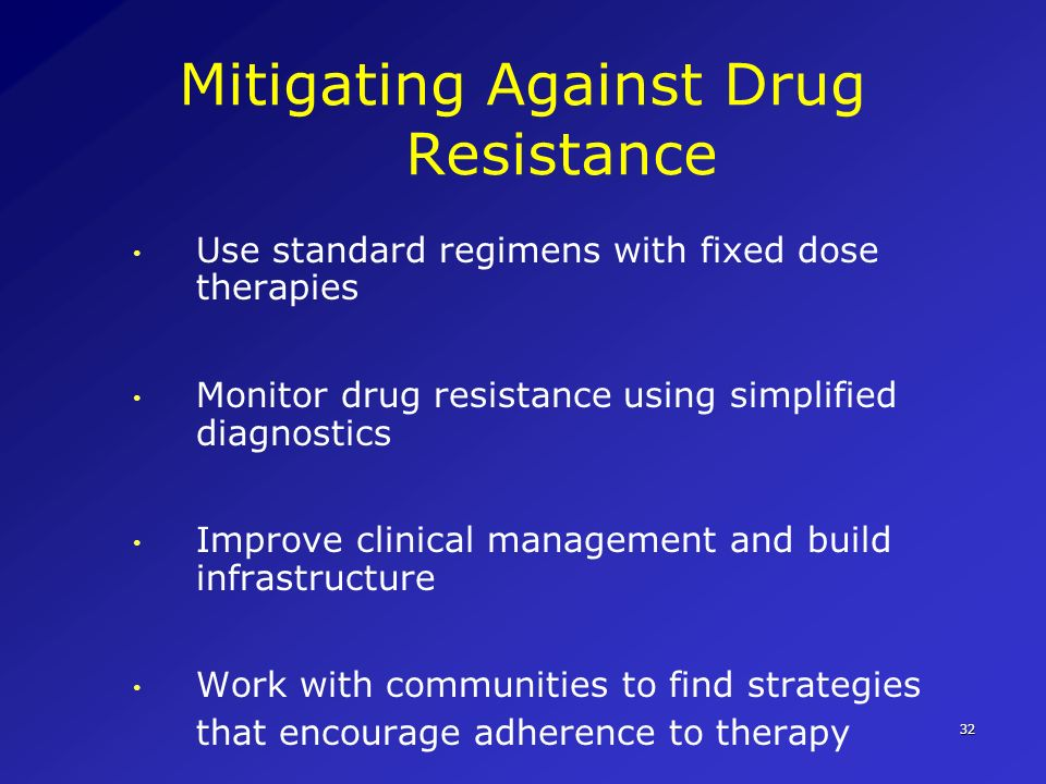 Mitigating Against Drug Resistance