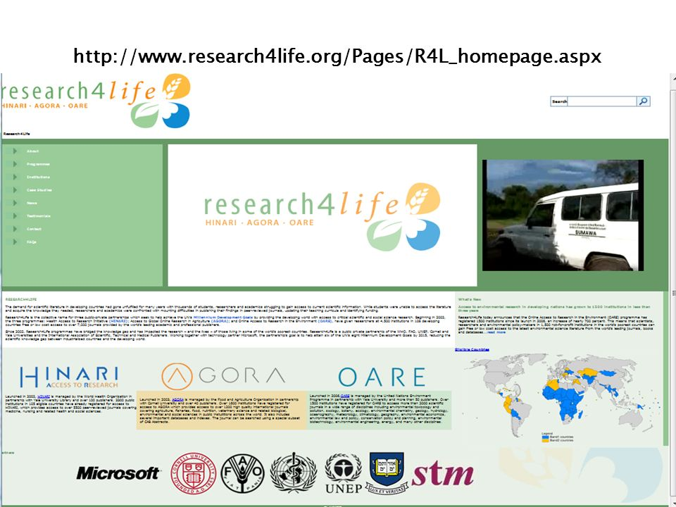 http://www.research4life.org/Pages/R4L_homepage.aspx
