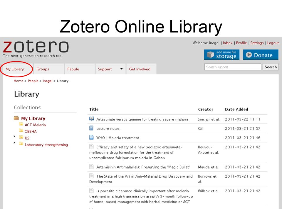 Zotero Online Library