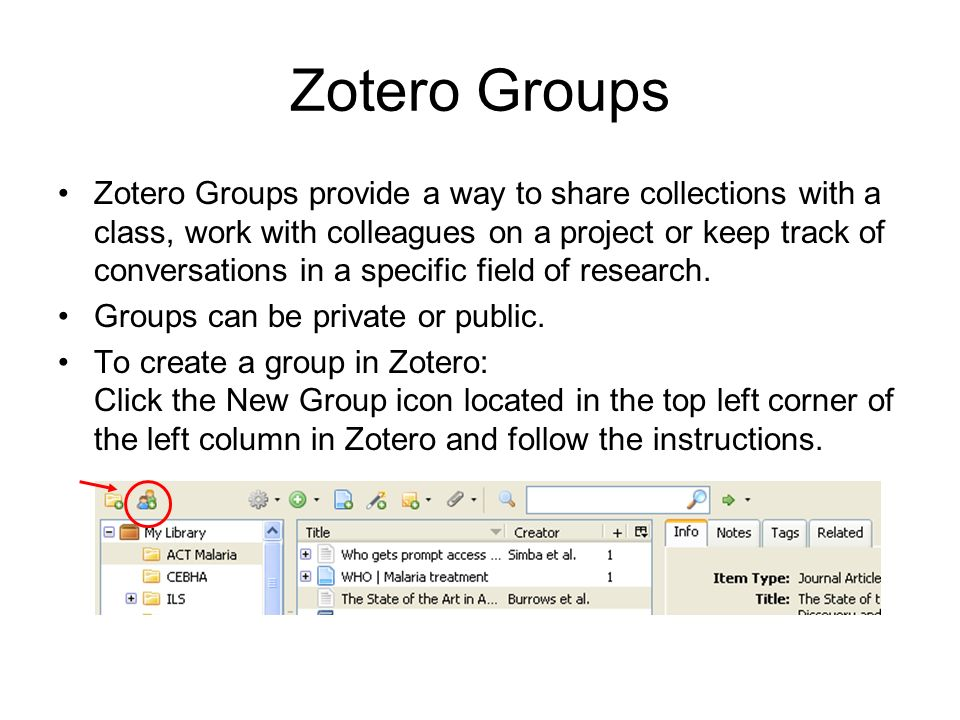 Zotero Groups