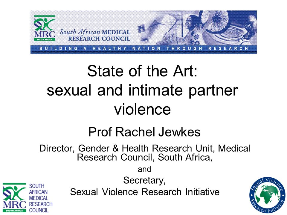 State of the Art: sexual and intimate partner violence