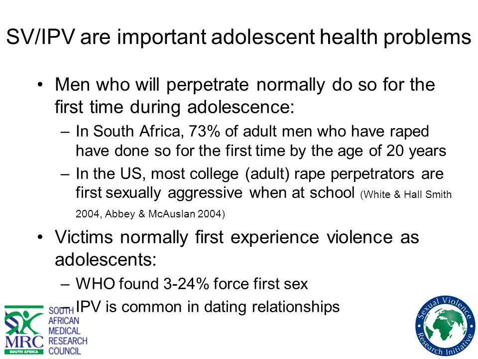SV/IPV are important adolescent health problems