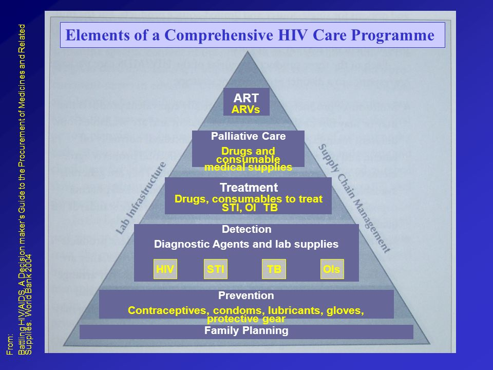 Elements of a Comprehensive HIV Care Programme