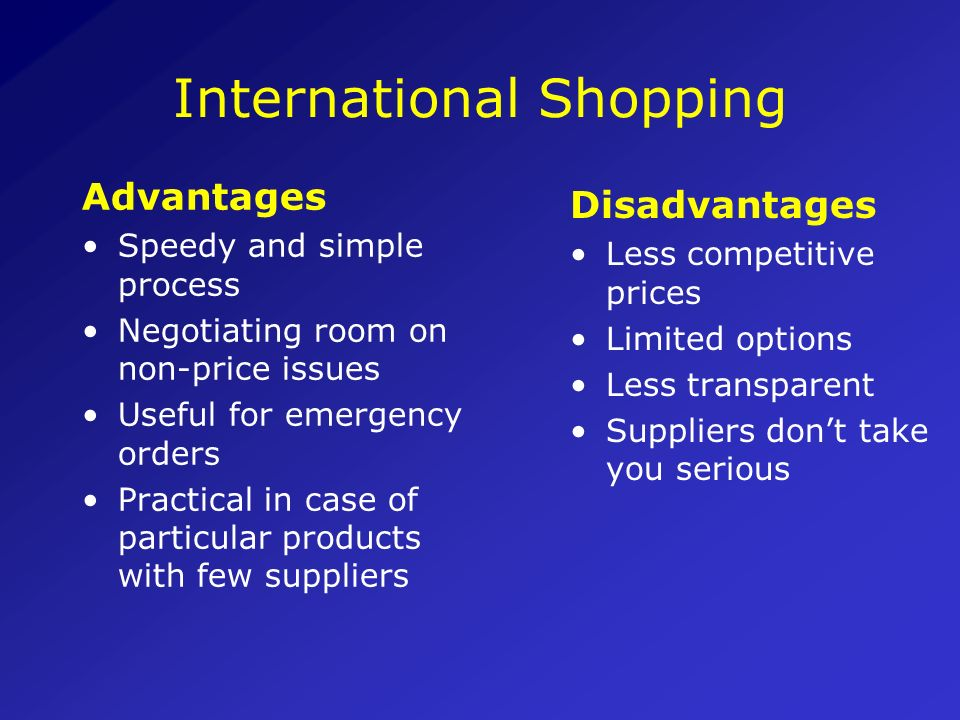 International Shopping
