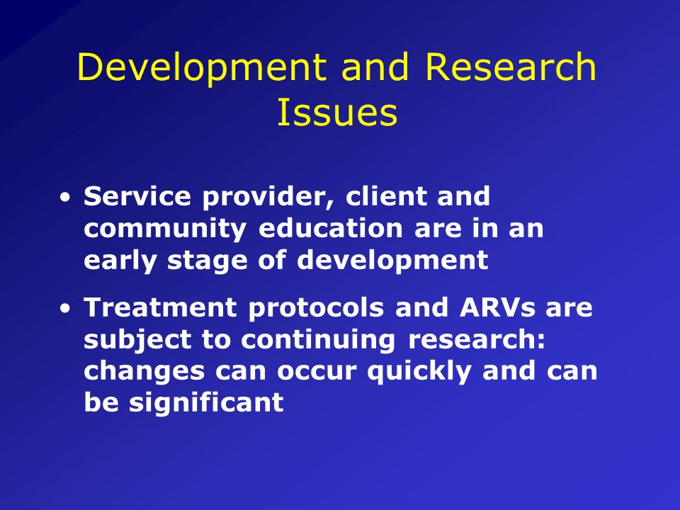 Development and Research Issues