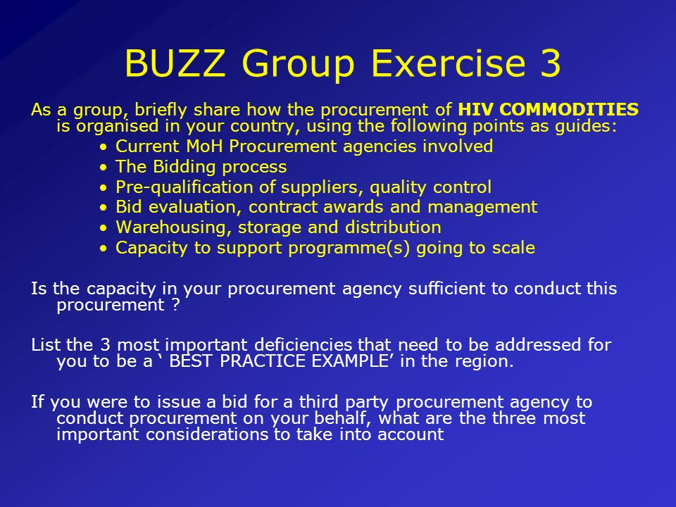BUZZ Group Exercise 3
